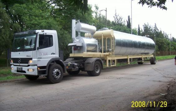 Tanque para almacenamiento de asfalto